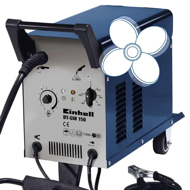 Svářečka s ochrannou atmosférou BT-GW 150 Einhell Blue-3
