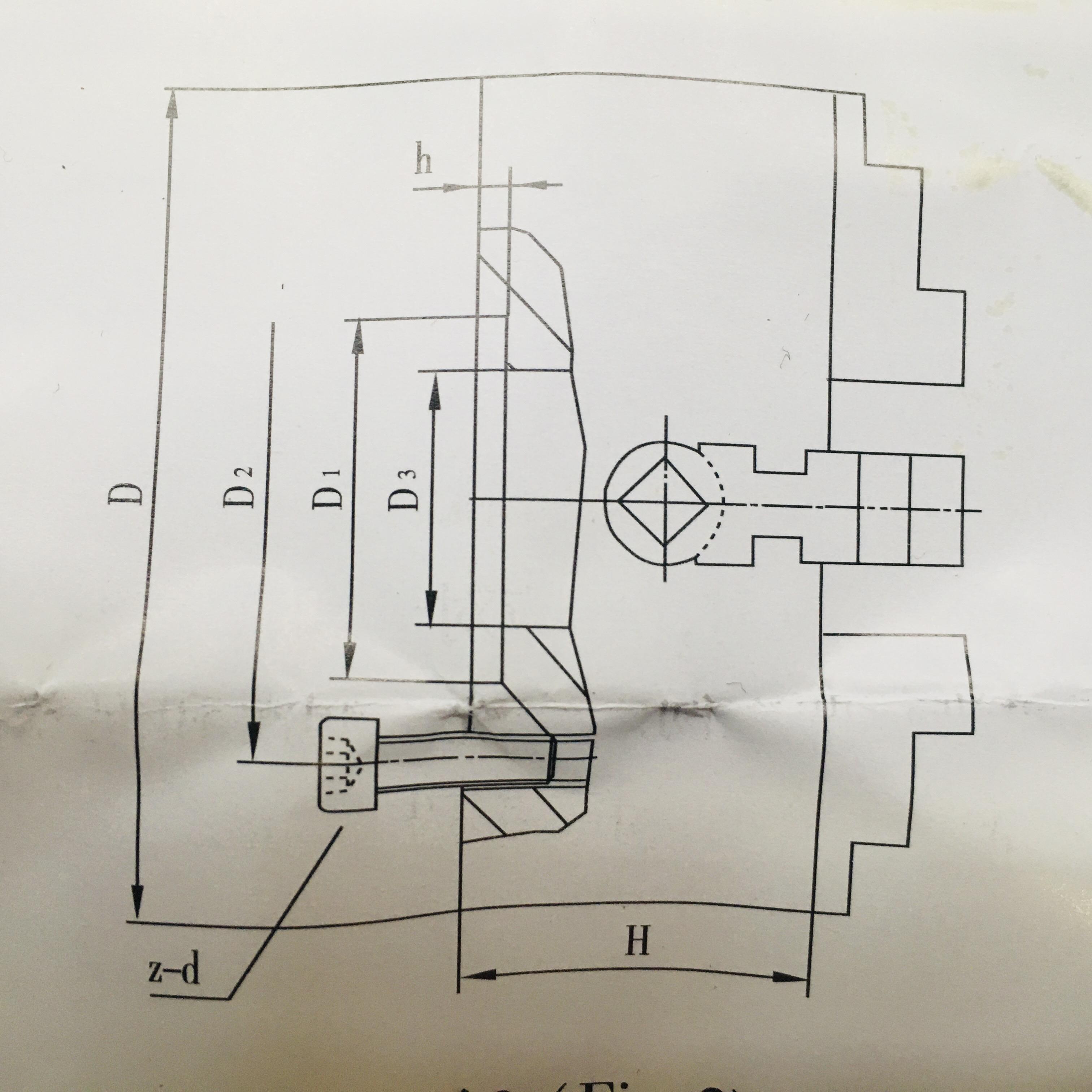 Čtyřčelisťové nesoustředné sklíčidlo 80 mm Einhell-4