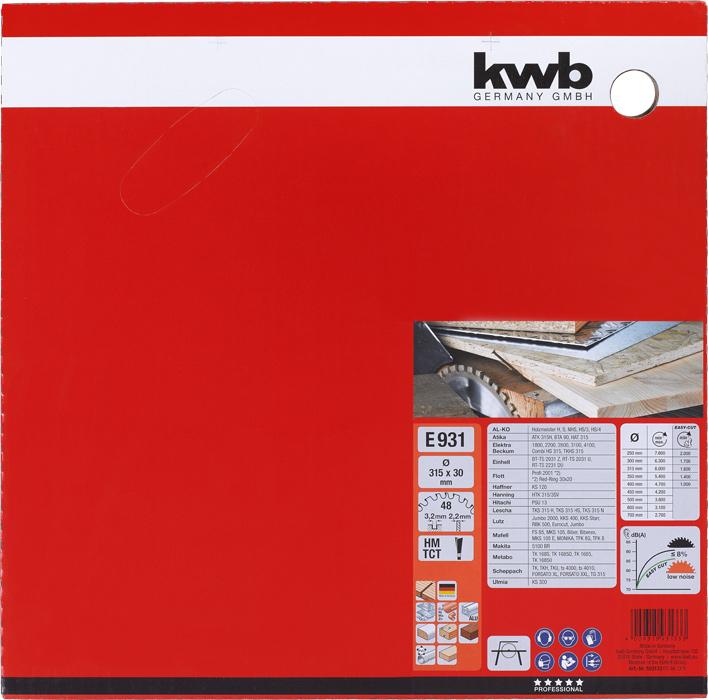 Pilový kotouč HM 315 x 30 mm 48 zubů KWB-2